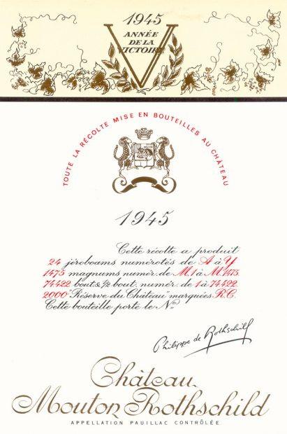 Chateau Mouton Rothschild label