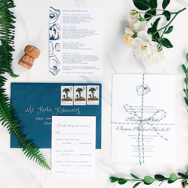 loved making these navy oyster invitatio
