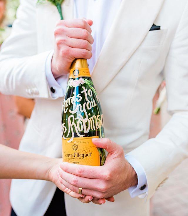 custom champagne bottle for the new Mr.