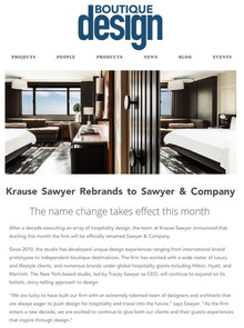 Sawyer & Company Featured in Boutique Design