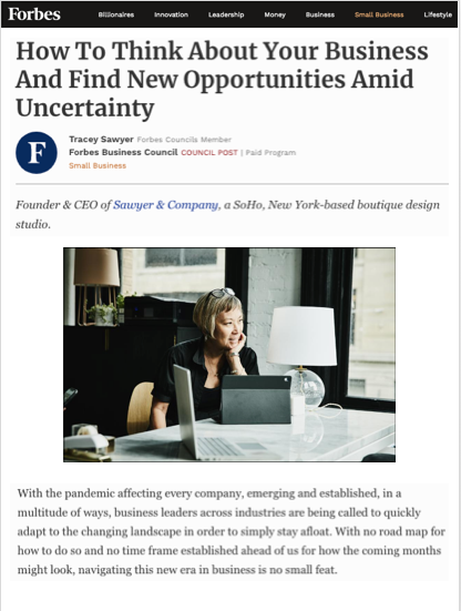 Tracey Sawyer Featured in Forbes
