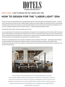 Sawyer & Company Featured in Hotels Magazine
