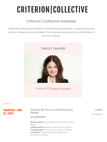 Tracey Sawyer Featured as Key Participant in Criterion Collective's Digital Event
