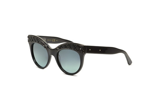 Bottega Veneta Limited Edition BV0020S 001 Black Leather Sunglasses Sonnenbrille