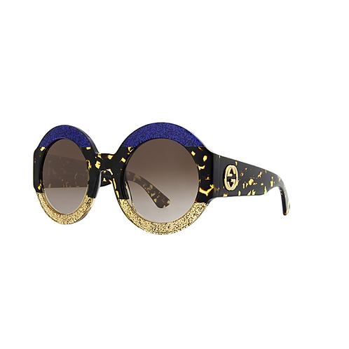 Gucci Sparkle Oval Sunglasses GG0084s 002