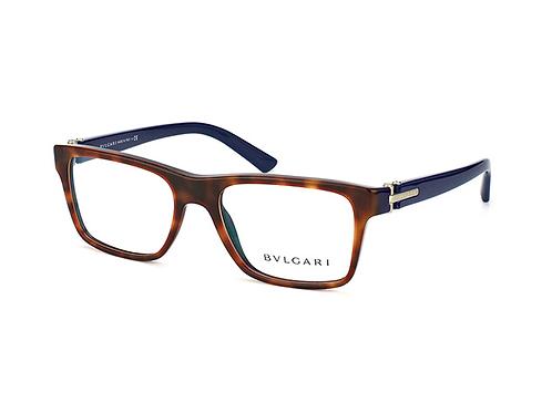 Bvlgari BV 3024 5315 Havana & Blue Brille Glasses Eyeglasses Frames Size 52