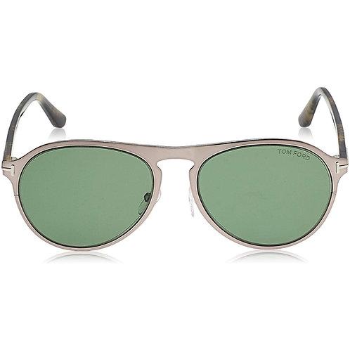 Tom Ford Bradburry FT0525 525 14N Shiny Light Ruth Sunglasses Green Lenses 56mm