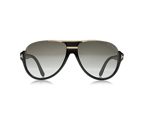 Tom Ford Dimitry TF 334 01P Black & Gold Gradient Sonnenbrille Sunglasses 59mm