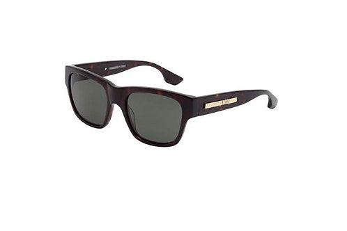 McQueen MCQ0028S 002 Havana  Sunglasses Green Lens 54 mm