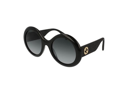 Gucci Sparkle Oval Sunglasses GG0101s 001