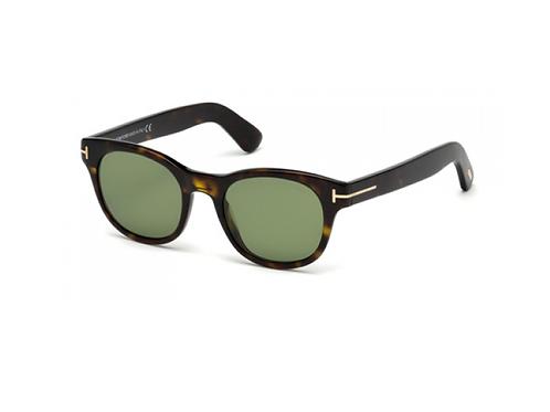 Tom Ford FISHER FT0531 52N Dark Havana Sonnenbrille Sunglasses Green Shades