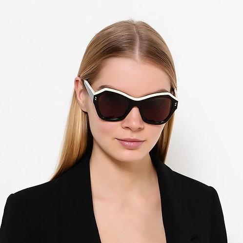 Stella McCartney SC0022S 001 Black & Ivory Sunglasses Sonnenbrille