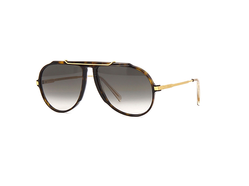 Celine CL40025l 52B Havana and Gold Sunglasses with Green Lenses