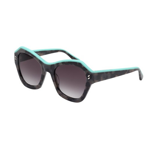 Stella McCartney SC0022S 003 Tortoise Grey & Green Sunglasses Sonnenbrille
