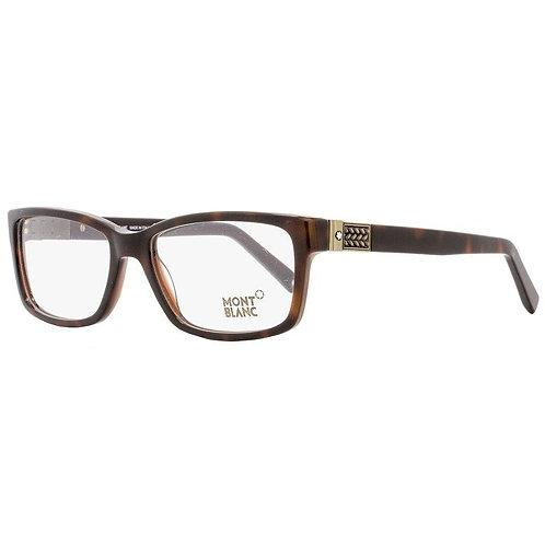 MONT BLANC MB 443 056 Dark Havana Tortoise Glasses Eyeglasses Frames Size 57