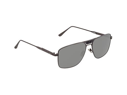 Bottega Veneta BV0052S 003 Matte Gunmetal Polarized Sunglasses Sonnenbrille