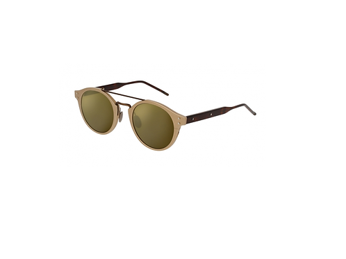 Bottega Veneta BV0078S 004 Gold & Havana Mirror Sunglasses Sonnenbrille
