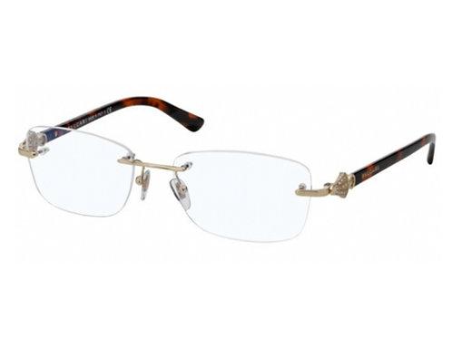 Bvlgari BV 2169 278 Havana Rimless Brille Eyeglasses Frames Size 52