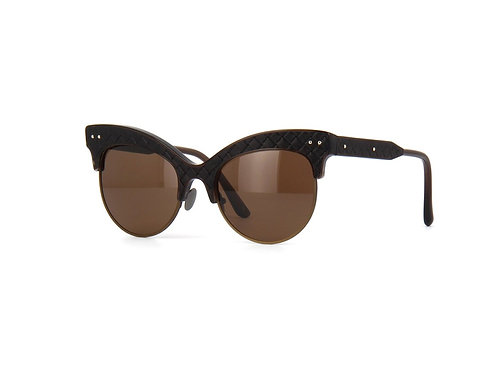 Bottega Veneta BV0014S 003 Brown Polarised Sunglasses Sonnenbrille
