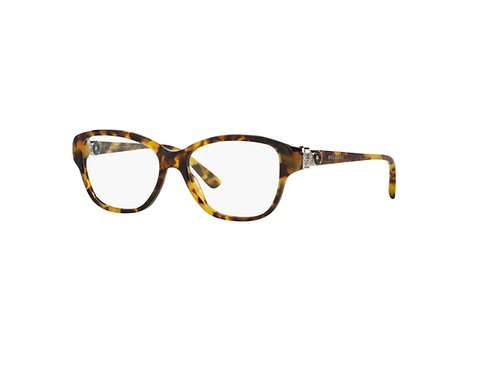 Bvlgari 4089B 5316 Tortoise Eyeglasses with Crystal Details