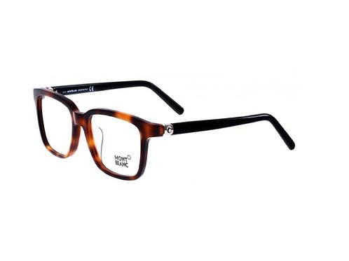 MONT BLANC MB 486 052 Tortoise & Black Glasses Eyeglasses Frames Size 52
