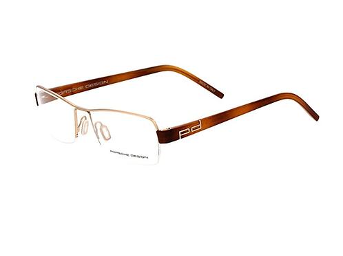 PORSCHE DESIGN 8210 A Havana & Gold Half Rim Eyeglasses Frames