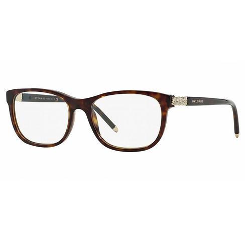 Bvlgari BV 4087B 504 Havana & Gold Eyewear Brille Glasses Eyeglasses Frames 52mm