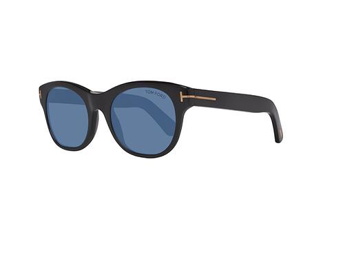 Tom Ford ALLY FT0532 01W Black Sonnenbrille Sunglasses Shades Blue Lenses