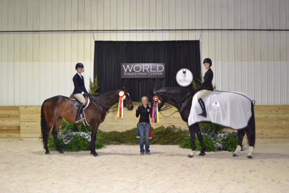 Victoria Lawler and Kelly O'Brien were big winners at the World Equestrian Center.