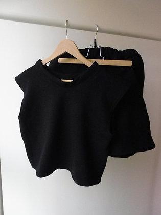 Ensemble short et top soft noir