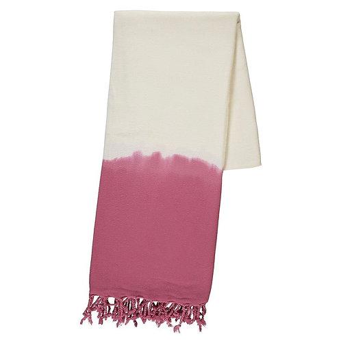 Rose Dip Dye Turkish Beach Towel