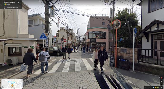 駅(西口)から御成通りを直っすぐ、
