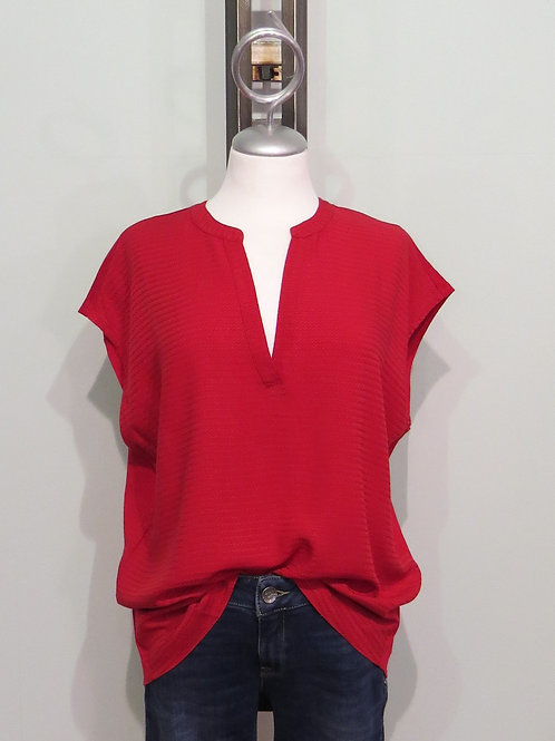 Bluse Materialmix