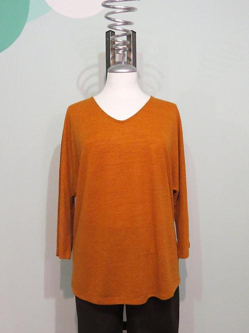Pullover Linen Look Vneck