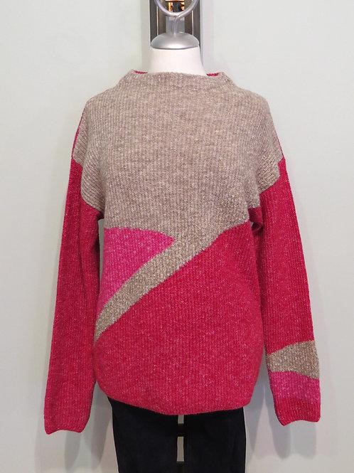 Pullover Colorblock Strick Flausch