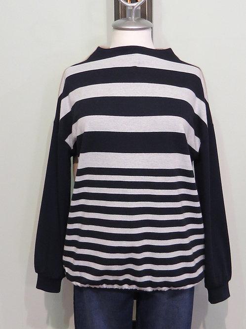 Pullover Turtle Neck Stripe
