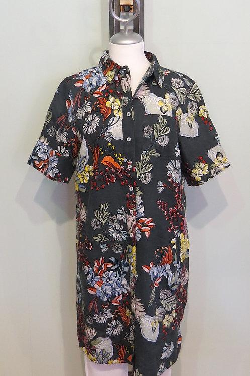 Kleid Flowerprint 100 % Leinen