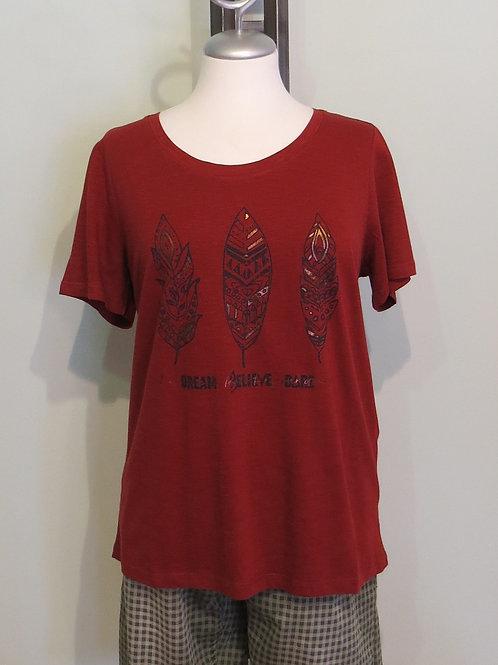 Shirt Feather Frontprint