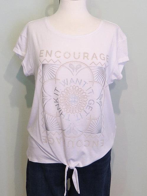 Shirt Partprint Shirt with Knot