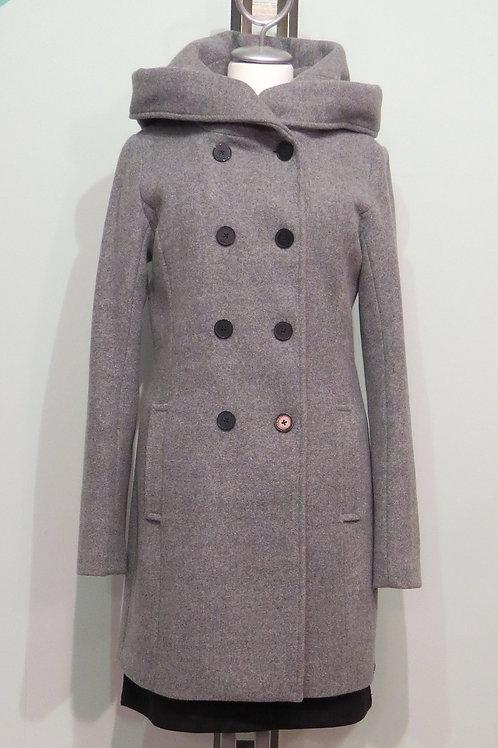 Mantel Wollgemisch Kapuze
