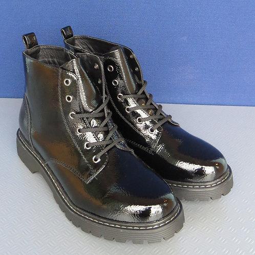 Stiefeletten Boots Lackoptik