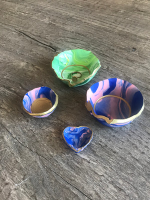 Gorgeous Marbled DIY Jewelry Dishes