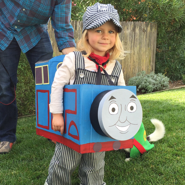 Thomas and Percy DIY Halloween Costumes