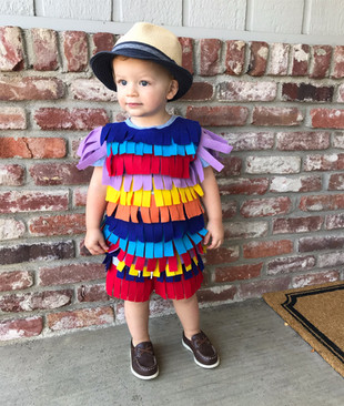 Easy No Sew Pinata Costume