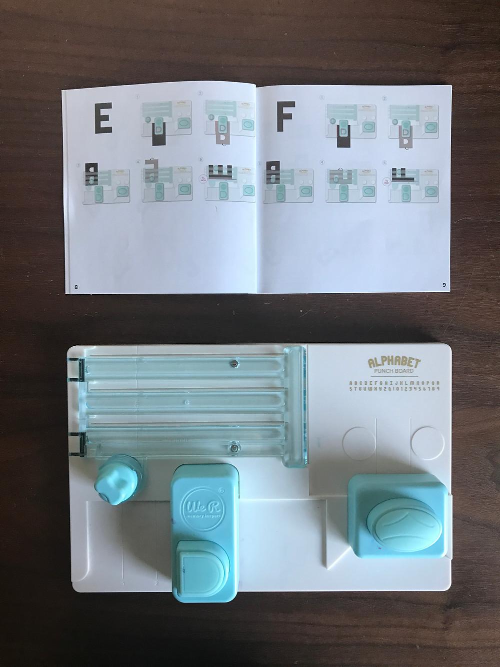 Alphabet punch board