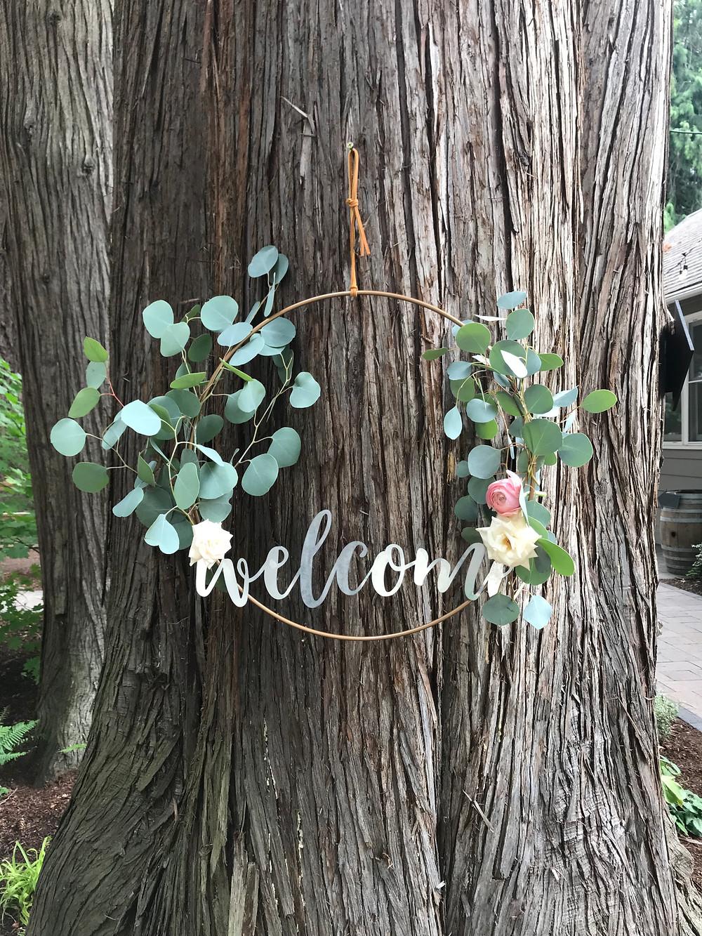 DIY copper wedding sign
