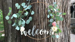 DIY Copper Wedding Signs