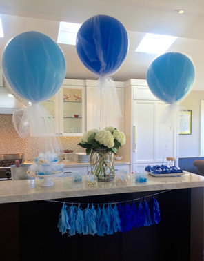 Blue Ombre Baby Shower