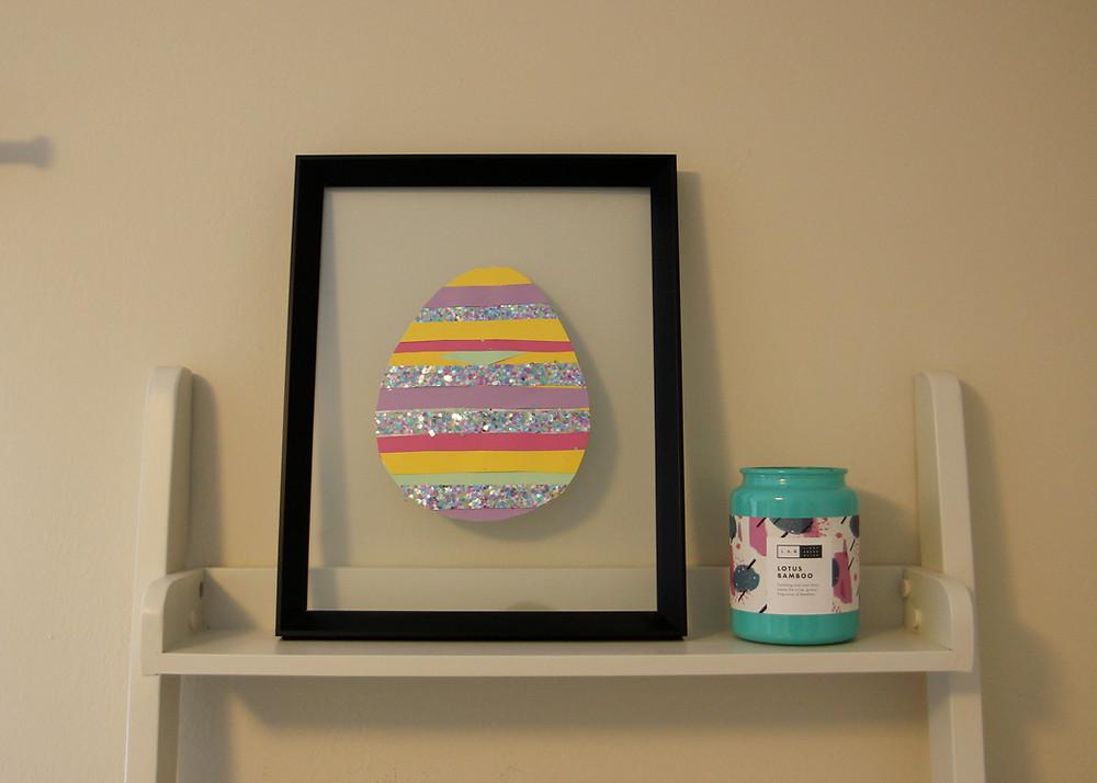 Easter egg kids paper art project