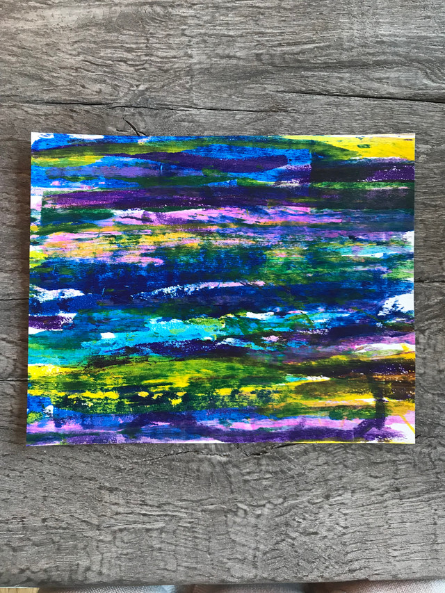 Gerhard Richter inspired scrape painting